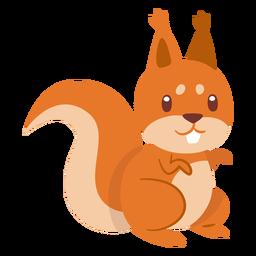 Esquilo animal dos desenhos animados
