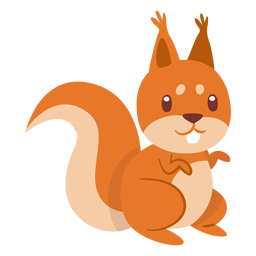 Esquilo desenho animado animal