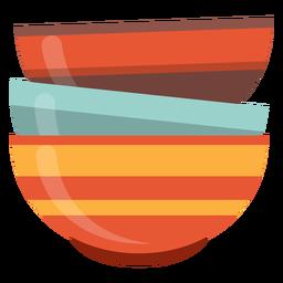 Icono de pila de tazones