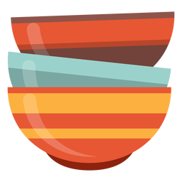 Stack of bowls icon
