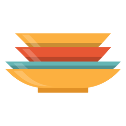 Pilha, de, pratos, ícone