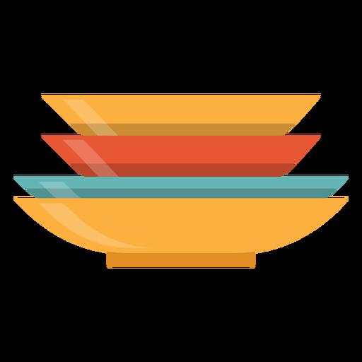 Pilha, de, pratos, ícone Transparent PNG