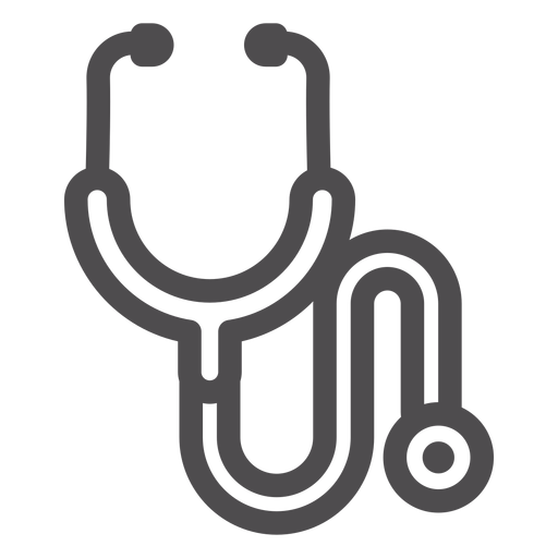 Stethoscope stroke icon Transparent PNG