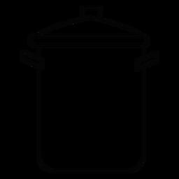 Icono de trazo de la olla