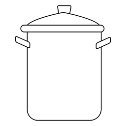Stockpot stroke icon