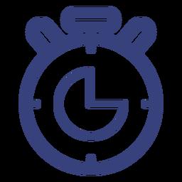 Icono de trazo de cronómetro