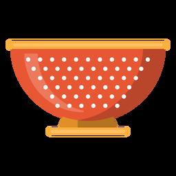 Icono de recipiente de colador