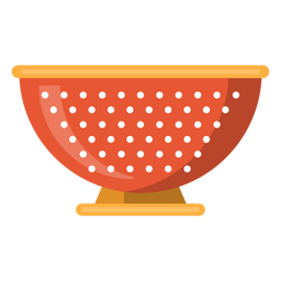 Icono de tazón de colador