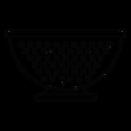 Ícone de traço de tigela de filtro