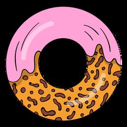 Desenhos animados de donut de morango
