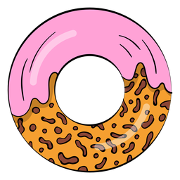 Dibujos animados de rosquilla de fresa