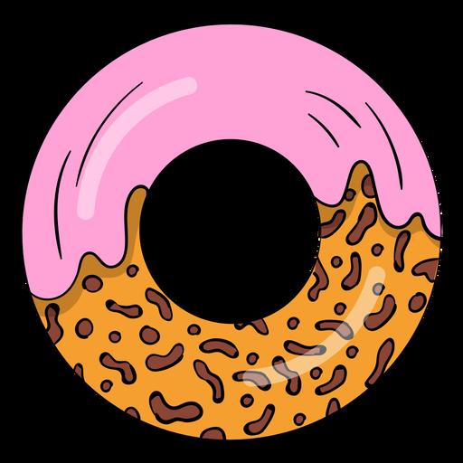 Erdbeer-Donut-Cartoon Transparent PNG