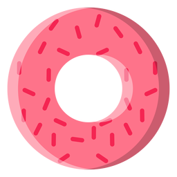 Strawberry doughnut icon
