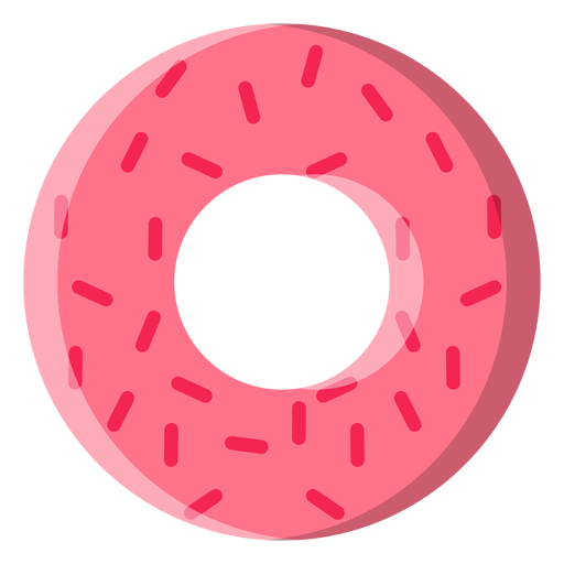 Strawberry doughnut icon Transparent PNG