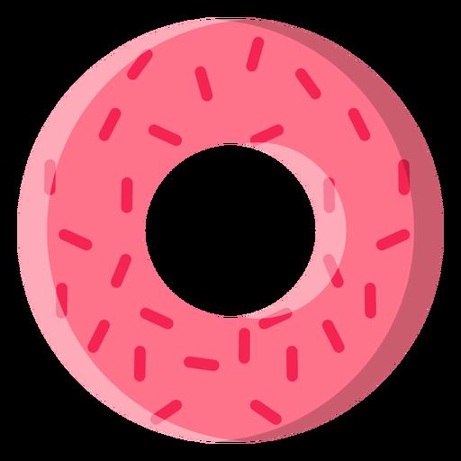 Strawberry doughnut icon