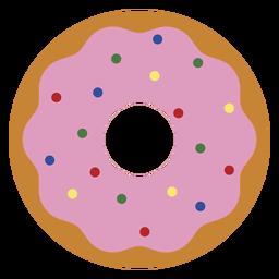Ícone de rosquinha de morango ícone de sobremesa