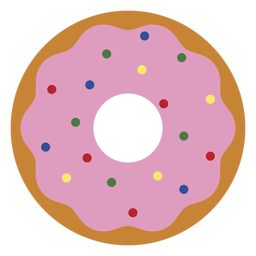 Ícone de sobremesa de ícone de morango donut