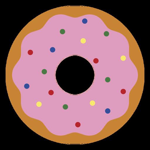 Icono de postre donut de fresa Transparent PNG