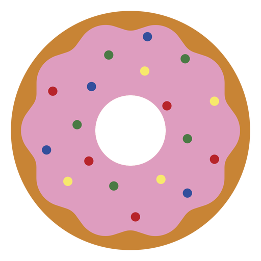 Strawberry doughnut icon dessert icon Transparent PNG