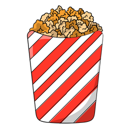 Sweet popcorn cartoon