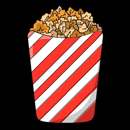 Sweet popcorn cartoon