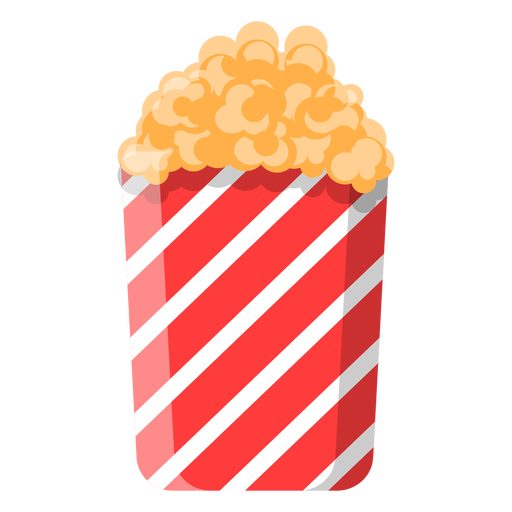 Süßes Popcorn-Symbol Transparent PNG
