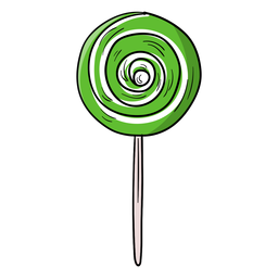 Swirl lollipop cartoon