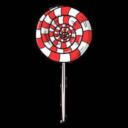 Strudel-Lutschbonbon-Karikatur