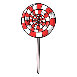 Swirl lolly cartoon