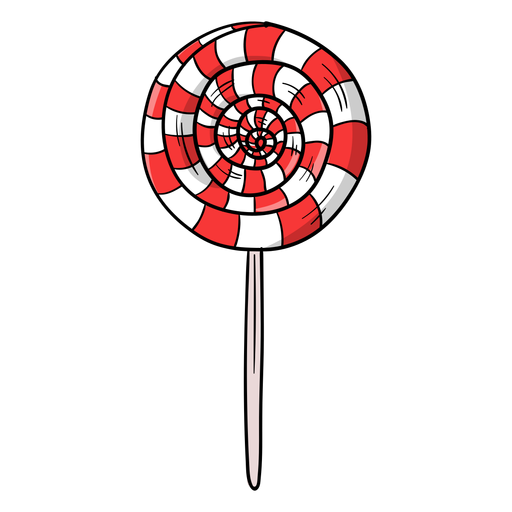 Swirl lolly cartoon Transparent PNG