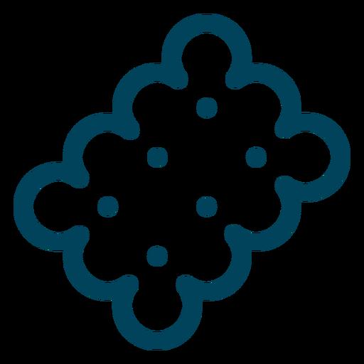 Icono de trazo de galleta de té Transparent PNG
