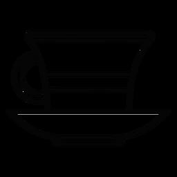 Icono de trazo taza de té