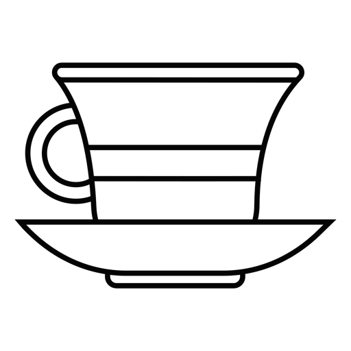 Tea cup stroke icon Transparent PNG