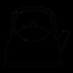 Icono de trazo de tetera