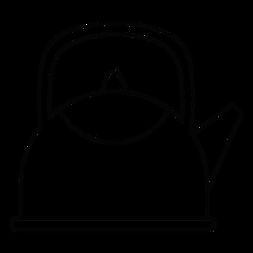 Teapot stroke icon Transparent PNG