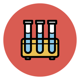 Icono de tubos de ensayo iconos médicos