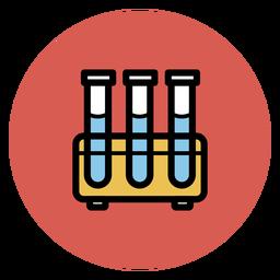 Medizinische Ikonen der Reagenzglasikone