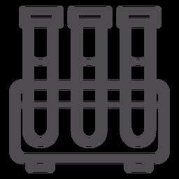 Icono de trazo de probeta