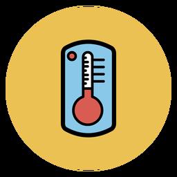 Termómetro colorido icono