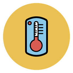 Thermometer colorful icon