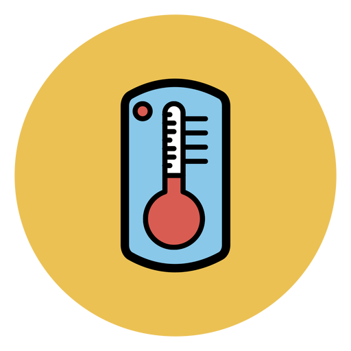 Thermometer bunte Ikone Transparent PNG