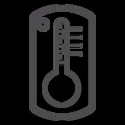 Ícone de traçado do termômetro