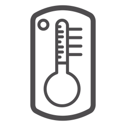 Icono de trazo del termómetro