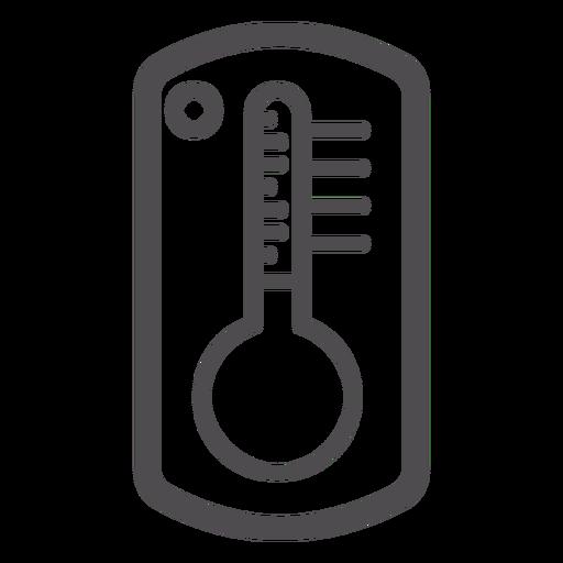 Ícone de traçado do termômetro Transparent PNG