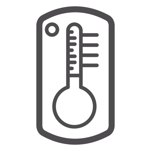 Icono de trazo del termómetro Transparent PNG