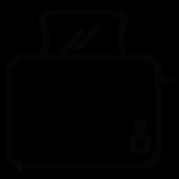 Icono de trazo de fabricante de tostadas