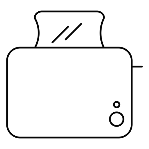 Toast maker stroke icon Transparent PNG