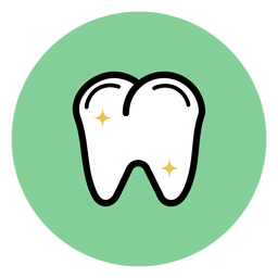 Dente colorido ícone