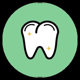 Icono colorido diente