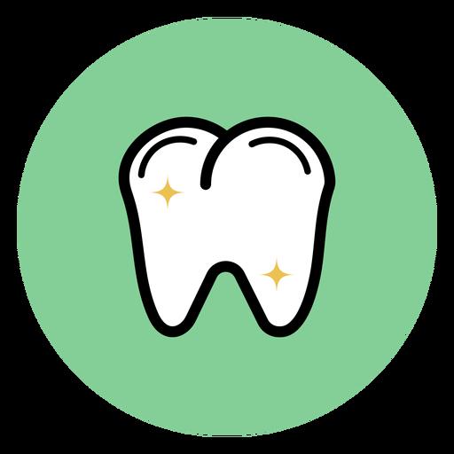 Dente colorido ícone Transparent PNG